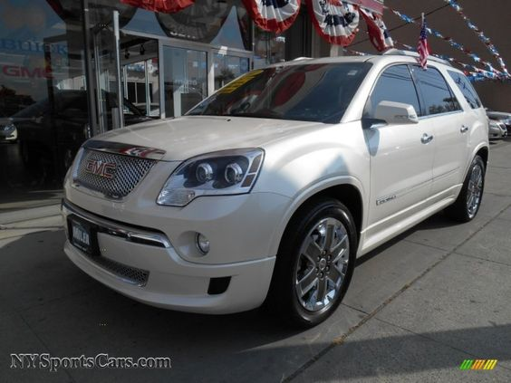 Envoy Denali White Rims 2011 Gmc Acadia Denali Awd In White Diamond Tintcoat For Sale 261419 Acadia Denali 2011 Gmc Acadia Awd