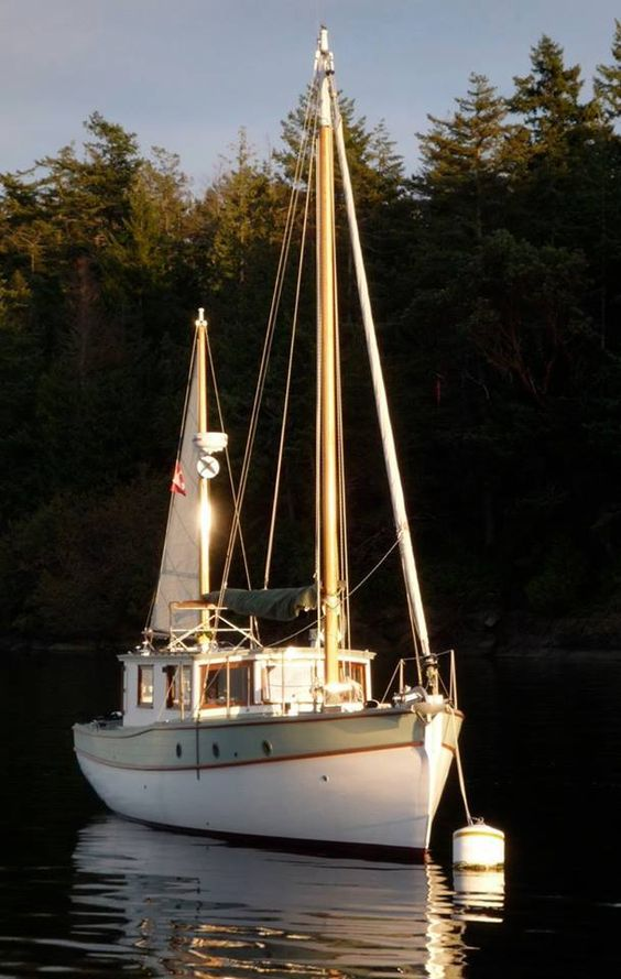 Not a tall ship, but a nice little sailing boat.