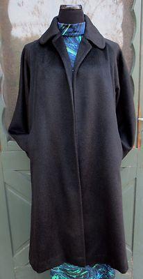 gorgeous vintage 1950's alpaca black swing coat