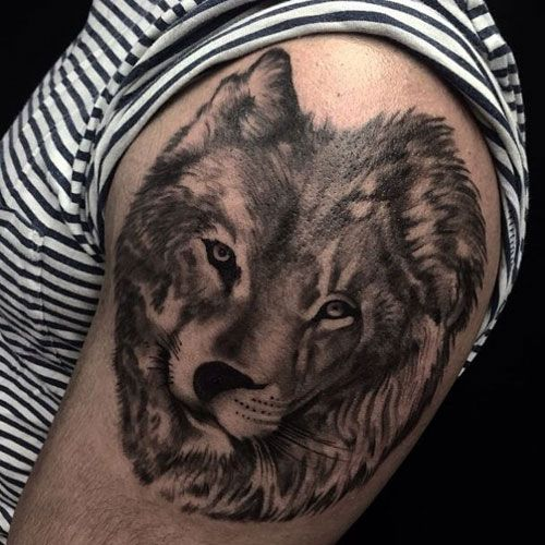 101 Best Wolf Tattoos For Men Cool Designs Ideas 2019 Update In 2020 Wolf Tattoos Men Wolf Tattoo Design Wolf And Moon Tattoo