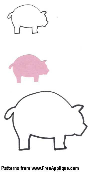 pig template for preschoolers - applique templates animal patterns and pigs on pinterest