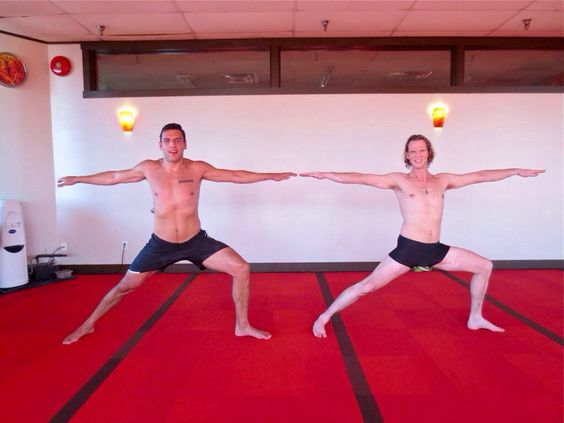 Milan Lucic doing yoga...you're welcome ;)
