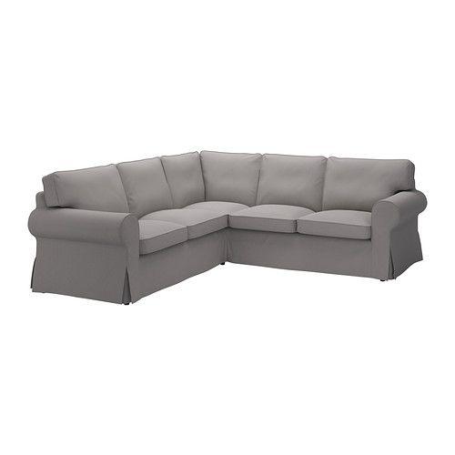 EKTORP Sofá esquina 2+2 - Isefall gris - IKEA