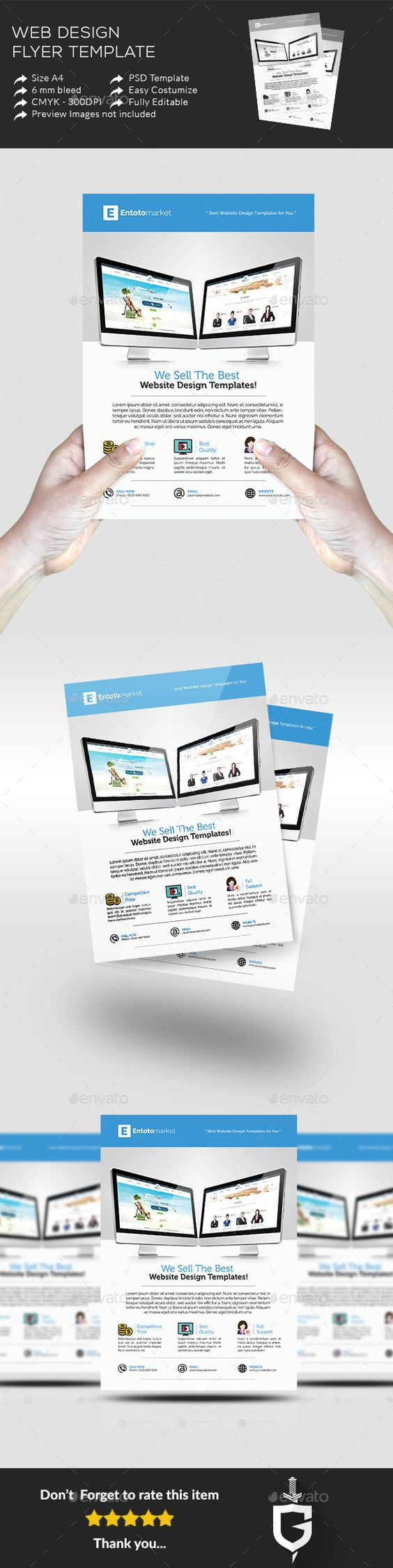 Web Design Flyer Temp  Flyer Template Flyers And Web Design