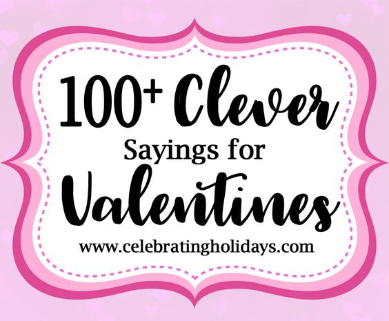 valentine clever sayings for candy and treats for kids. Black Bedroom Furniture Sets. Home Design Ideas