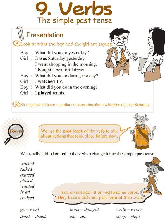 Grade 3 Grammar Lesson 9 Verbs – the simple past tense | My ...