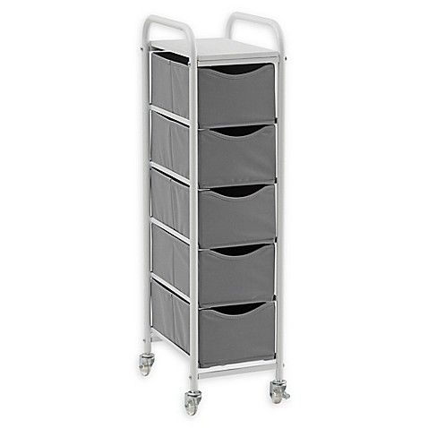 Add Storage Space To Any Small Area With The Studio 3b 5 Drawer Storage Cart This Convenient Storage Cart Is Lightw 5 Drawer Storage Apartment Storage Storage
