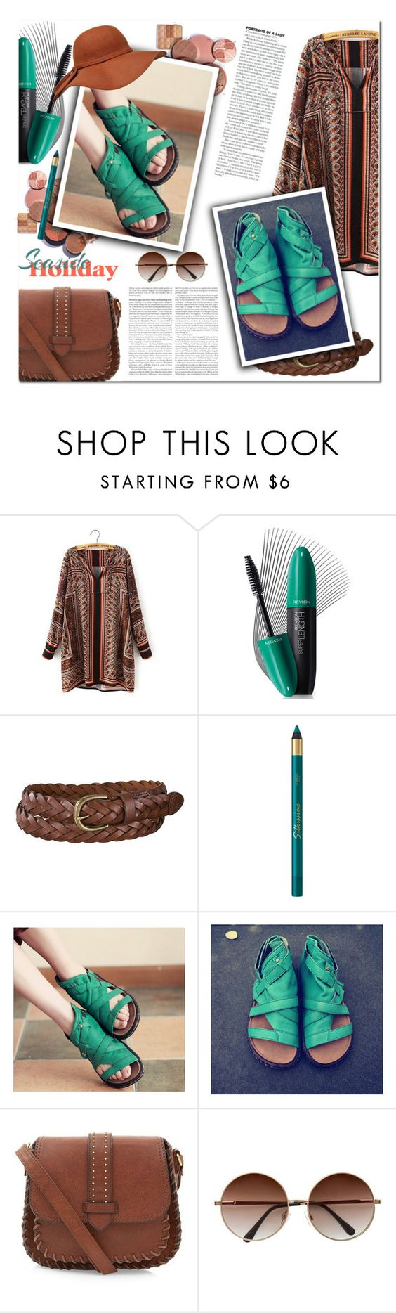"""""""Untitled #2140"""" by melodibrown ❤ liked on Polyvore featuring Revlon, Uniqlo and New Look"""
