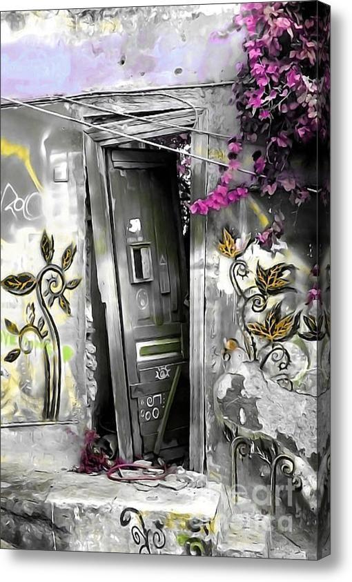 Plaka Door No2a Acrylic Print #art #photograpy #painting #digitalart #greek #athens #plaka #oldtown #old #house #door #wall #damaged #europe #urban #greekdoors #piaschneider #artprint #acrylicprint #canvasprint #fineartamerica #fineartphotography #home #decor #walldecoration #impressionism #interiorstyle #abandoned, #lonely, #ruin, #dilapidated, #urban #beauty