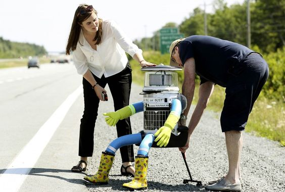 We are what we create. Across Canada with @FraukeZeller & David Smith's @Hitchbot. @MattMcFarland HT @Argonne #2030Now