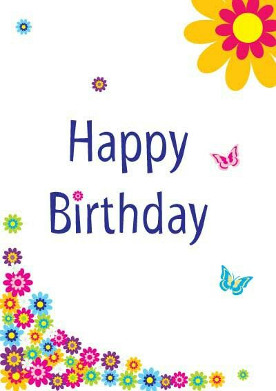 Free Printable Birthday Card Template Alifred Palacios Alifredp On Pinterest