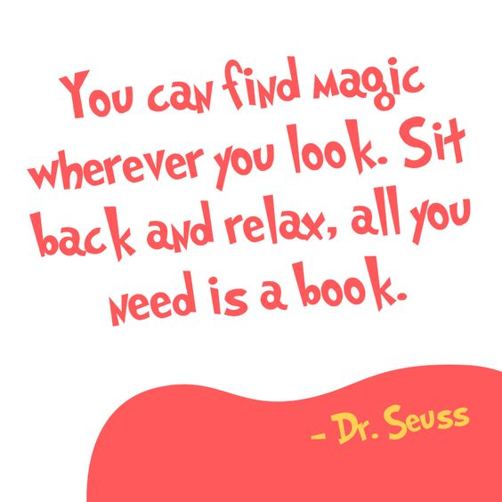 Inspirational reading quote from Dr. Seuss https://www.getepic.com/