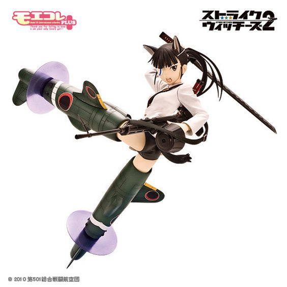 Mio Sakamoto, the first strike witch and veteran of the 501st Joint Fighter Wing in the hugely popular cross-media series Strike Witches, has joined Volks' Moekore Plus figure lineup. She is sculpted in a valiant pose with her Type 99 machine gun in one hand and her magical blade, the Reppumaru, drawn over her head ready to slice through a Neuroi core. She is also equipped with her Striker Unit ba...
