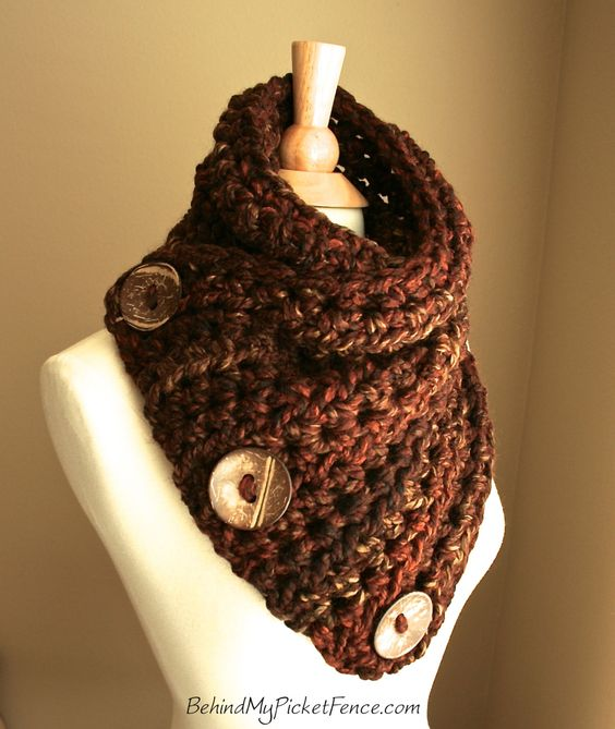 ★New Color★ The Original BOSTON HARBOR SCARF in Rustic Redwood by www.BehindMyPicketFence.com {I'm thrilled to introduce my newest color!}