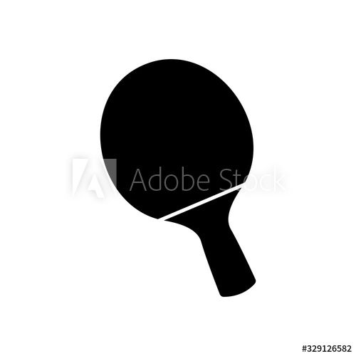 Vector Black Table Tennis Racquet Icon Game Equipment Professional Sport Classic Ping Pong Racket For Official Competit In 2020 Tennis Racquet Table Tennis Racquets