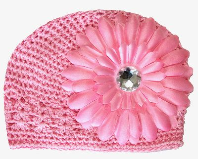 Baby Boutique Flower Hat - Newborn Baby Infant Girls Toddler (Pink) $6.50