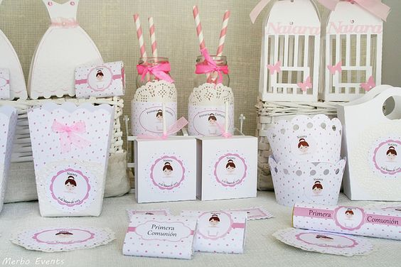 Kit imprmible decoraci n comunion ni a comunion - Decoracion baby shower nina ...