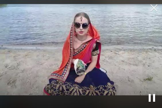 hare krishna, yoga, new age, ocean, girl, sari, mantra