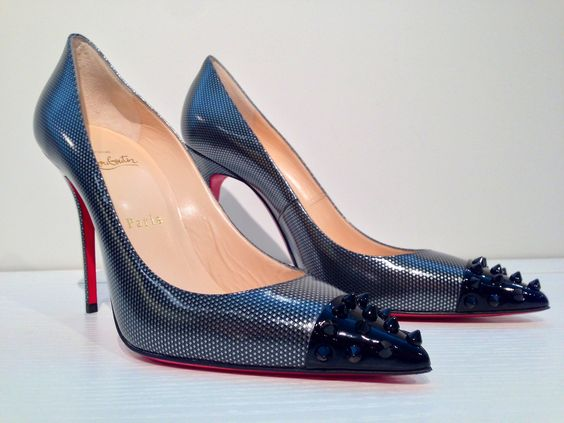 Christian Louboutin Geo Pump mixes metallics and spikes for a Rock N Roll fantasy!