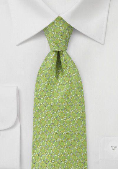 Krawatte gewundene Bänder grasgrün