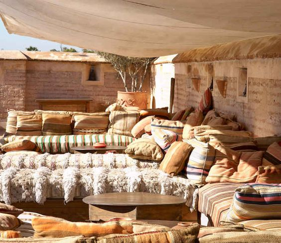 pillows and more pillows and a Moroccan Handira