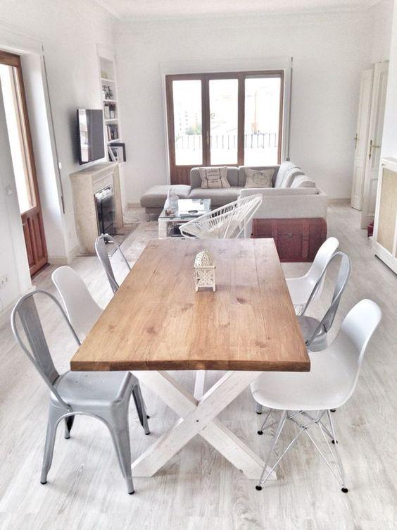 Mesa de comedor cottage mesa de comedor o de cocina hecha con ...