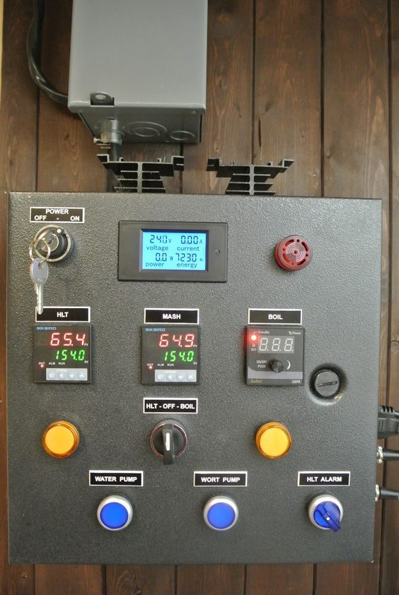Electric brewery control panel build