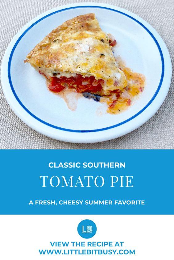 Classic Southern Tomato Pie
