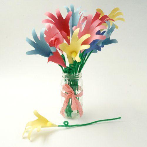 Bricoler des fleurs avec des empreintes de mains enfants pinterest fleu - Idee de bouquet de fleurs ...