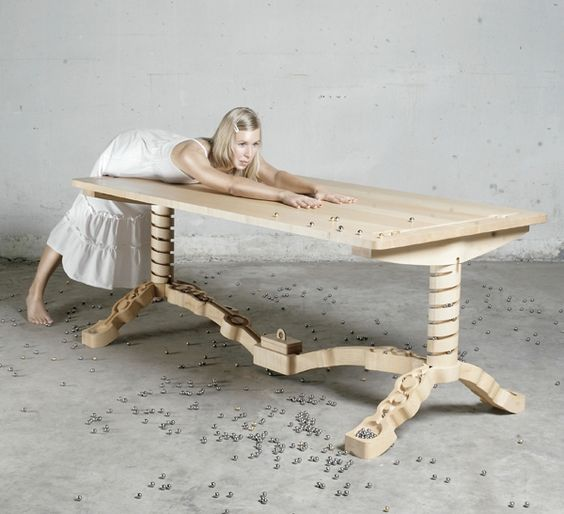 Schön Marbelous Tisch Massivholz Ahornholz Murmelbahn Design   Woodworking    Pinterest   Murmelbahn, Esstisch Design Und Tisch