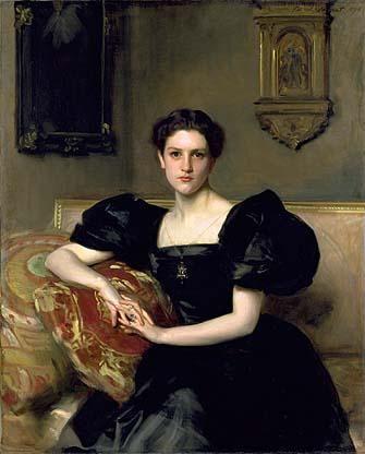 1893 Mrs John Jay Chapman (Black Dress) by John Singer Sargent