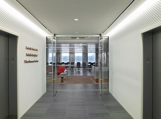 De muren !  zie meer van het interieur http://www.officesnapshots.com/2012/06/22/rockefeller-brothers-fund-offices/