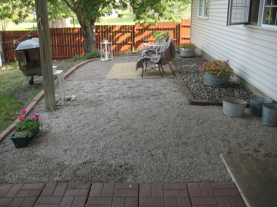 Entertaining Ideas | The homeowners installed a simple pea-gravel patio in a single weekend to create an area that's perfect for alfresco dining. Description from pinterest.com. I searched for this on bing.com/images