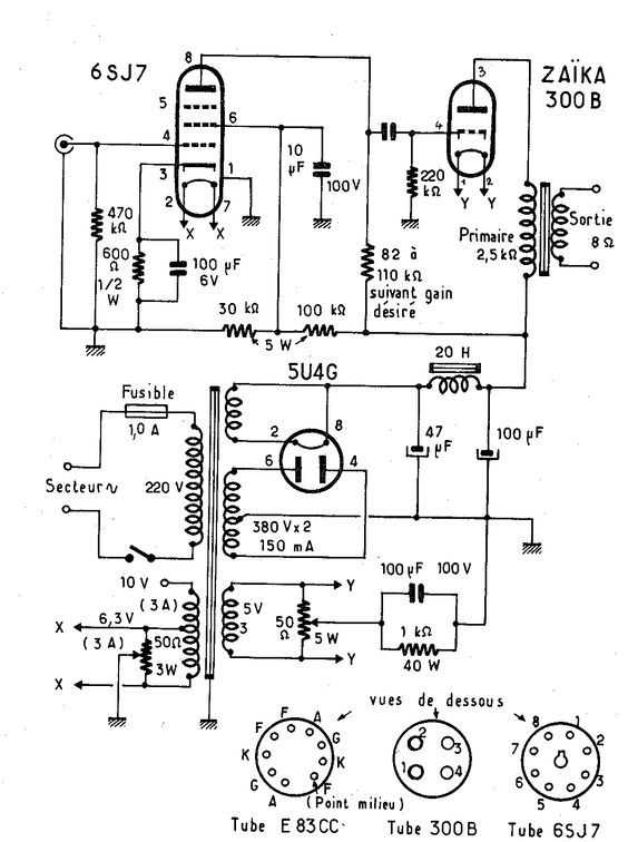 Simple Guitar Tube Amp Schematic