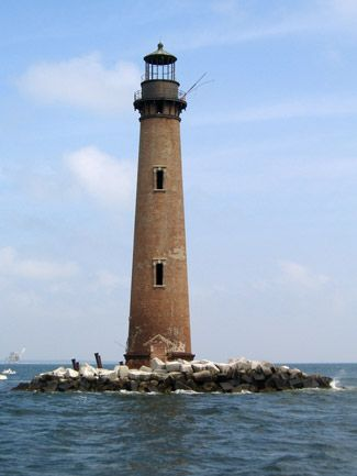Sand Island Light, off Dauphin Island, AL. They are accepting donations to repair the light.