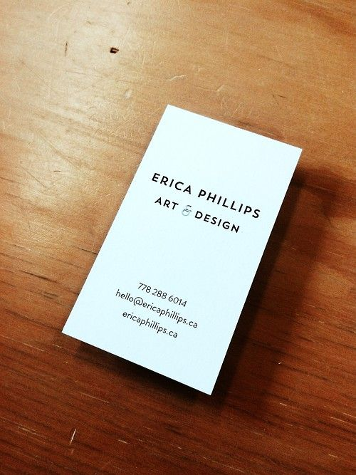 Erica Phillips Personal Business Cards Stock 15pt Uncoated 100 Recycled Ericaphillips Ca By Clubcard Pinterest