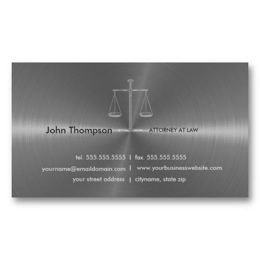 Elegant Lawyer / Attorney / Legal Business Card | Business Cards ...