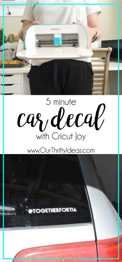 Car Decal With Cricut Joy In 2020 Cricut Joy Cards Cricut Projects