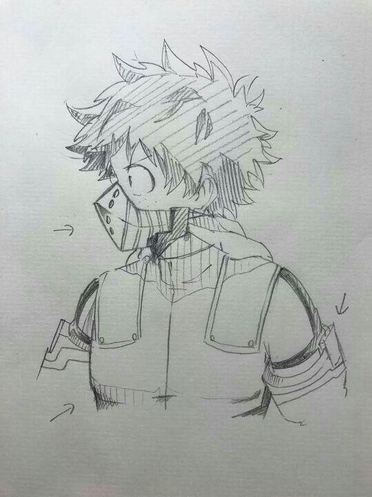 Midoriya Izuku Anime Sketch Hero My Hero Academia