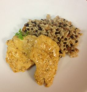 Cider Glazed Chicken with Brown Rice