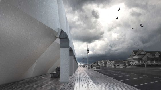 Giant Umbrellas Could Protect the Lucky Ones From Storm Surge