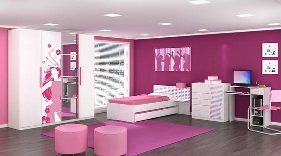 quarto feminino rosa - Pesquisa Google