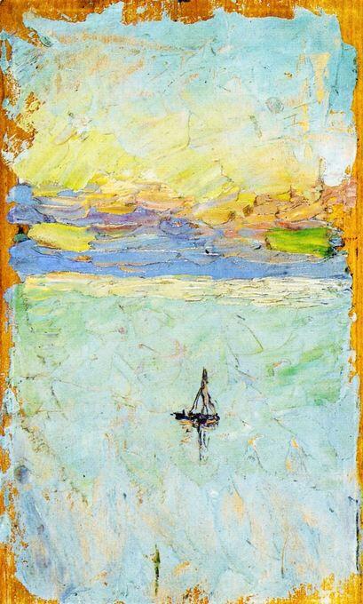 Wassily Kandinsky, voilier en mer,1902
