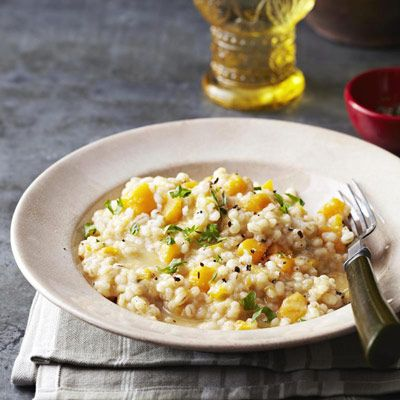 Butternut Squash Barley Risotto Recipe - Good Housekeeping.  making this as baby food for A.