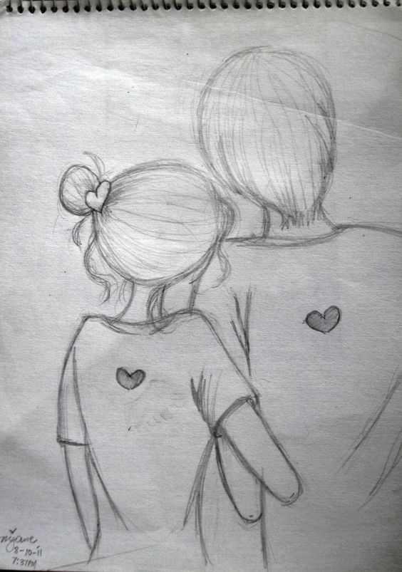 easy pencil sketch of couples - Google Search | Doodles ...