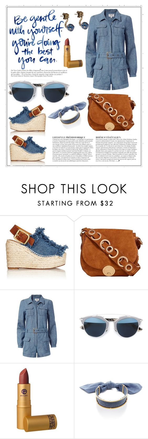 """""""Untitled #202"""" by meryflower ❤ liked on Polyvore featuring Anja, Chloé, Foley + Corinna, Frame Denim, Christian Dior, Lipstick Queen, Monica Sordo and Valentino"""