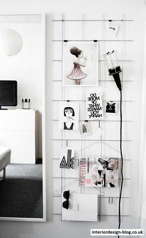 DIY Iron Mesh Moodboard -    wwwinteriordesign-bloguk - kleine u küche
