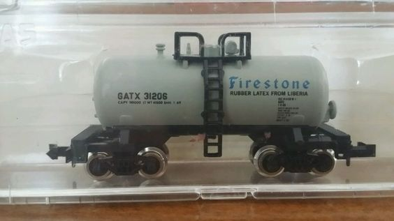 Atlas N Trainman Beer Can Shorty Tank Car  3239 Firestone #Atlas