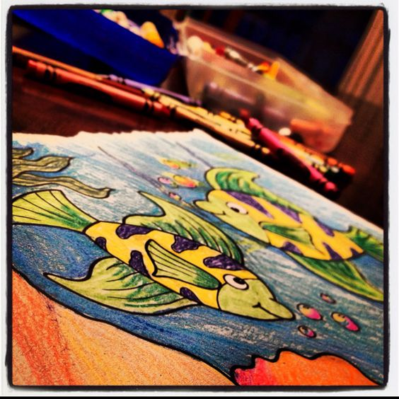 Coloring with crayons is good for the soul. Fact.