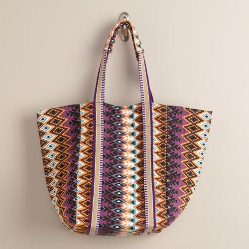 One of my favorite discoveries at WorldMarket.com: Purple Ikat Tote Bag